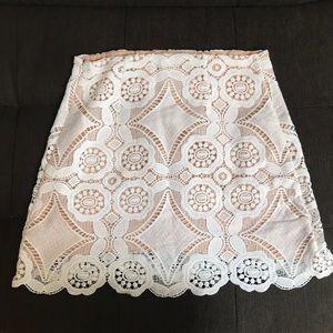 Cute white and cream crochet skirt